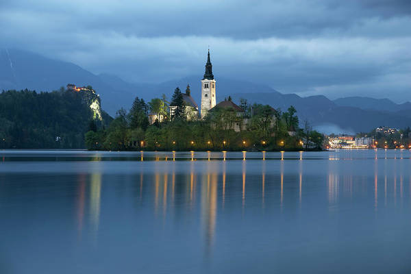Maria Island Wall Art - Photograph - Slovenia, Gorenjska, Bled, Lake Bled by Guy Vanderelst