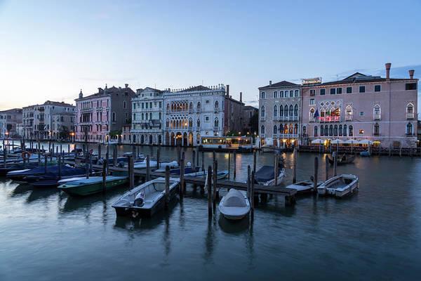 Wall Art - Photograph - Slow Dusk In Venice - Rialto Market Working Boats And Grand Palaces by Georgia Mizuleva