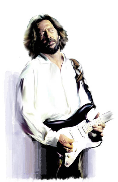 Wall Art - Painting - Slow Hand  Eric Clapton by Iconic Images Art Gallery David Pucciarelli