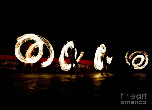 Show Photograph - Slow Shutter Speed Of Fire Show by The Sun Photo