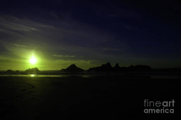 Wall Art - Photograph - Slow Sun Fall On Seal Rock by Jeff Swan