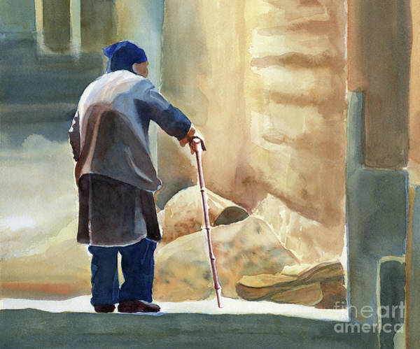 Elderly Wall Art - Painting - Slowly Heading Home by Sharon Freeman