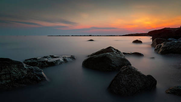 Photograph - Slumbering Sea by Simmie Reagor
