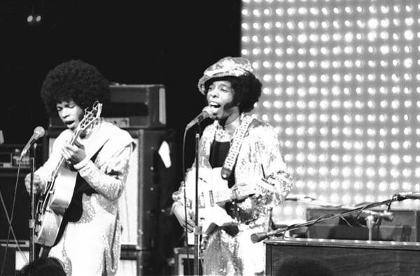 Wall Art - Photograph - Sly And The Family Stone On The by Michael Ochs Archives