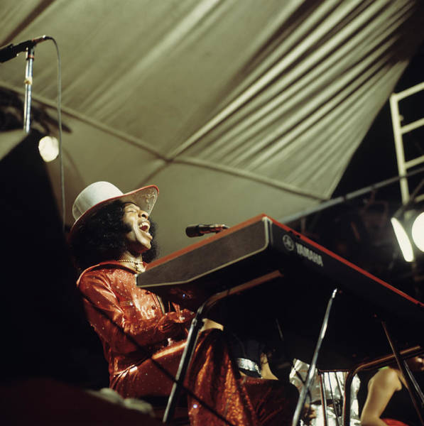 Wall Art - Photograph - Sly Stone Performs On Stage by David Redfern