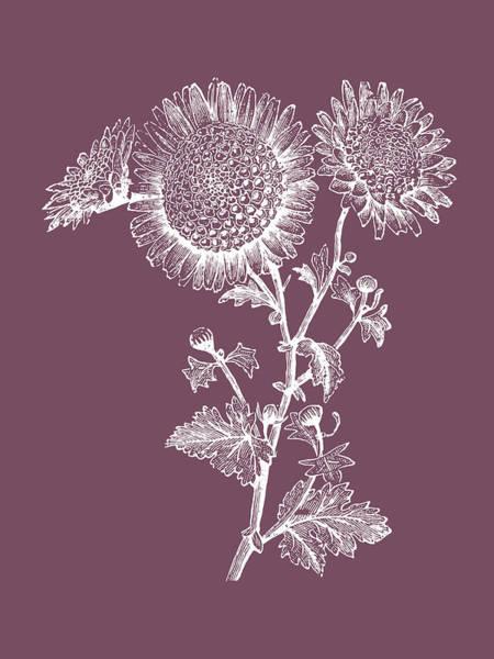 Love Mixed Media - Small Anemone Purple Flower by Naxart Studio