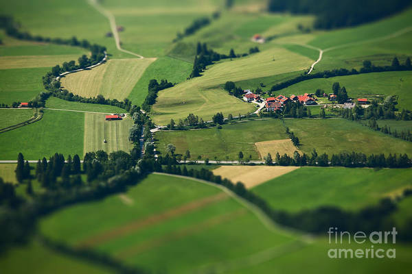 Roofs Photograph - Small Bavarian Village In A Fields by Dudarev Mikhail