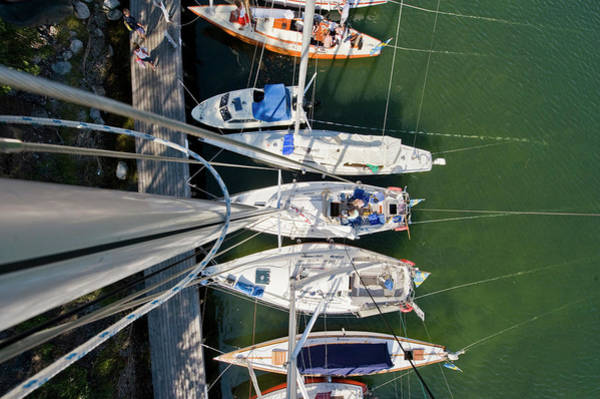 Sunny Side Up Wall Art - Photograph - Small Boats From Above by Erik Leonsson