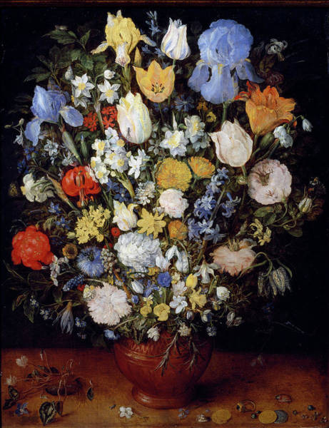 Painting - Small Bouquet Of Flowers Or Bouquet In by Leemage