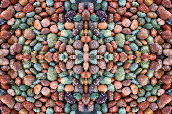 Wall Art - Photograph - Small Colorful Pebbles Along The Shore by Darrell Gulin