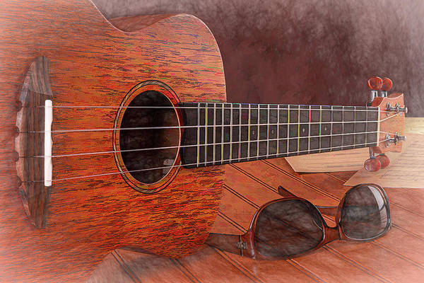 Wall Art - Photograph - Small Guitar And Shades by Tom Mc Nemar