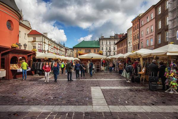 Wall Art - Photograph - Small Market Square In Krakow by Artur Bogacki