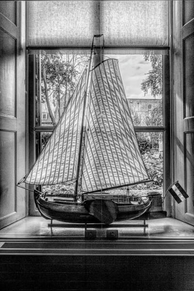 Photograph - Small Sailing Boat In Black And White by Debra and Dave Vanderlaan