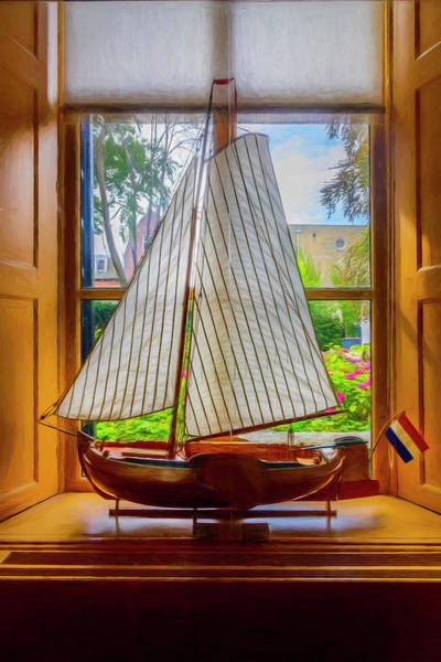 Photograph - Small Sailing Boat Painting by Debra and Dave Vanderlaan