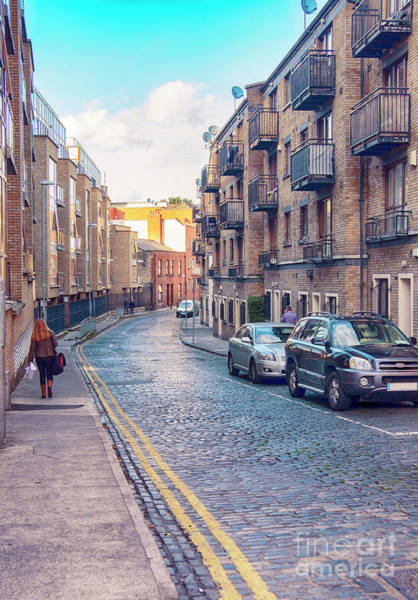 Photograph - small street of Dublin by Ariadna De Raadt