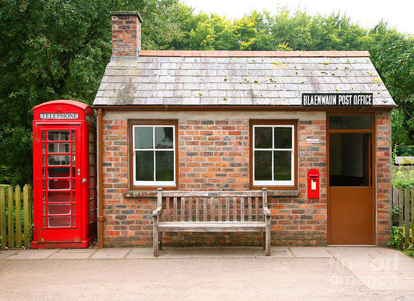 Telephones Wall Art - Photograph - Small Traditional Brick Building With by Tazzymoto