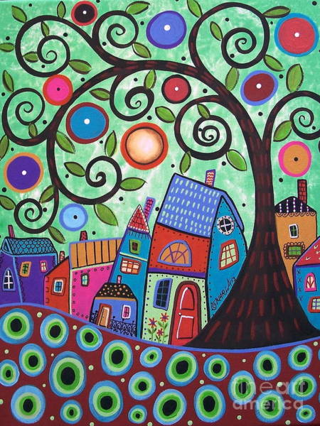 Wall Art - Painting - Small Village 1 by Karla Gerard