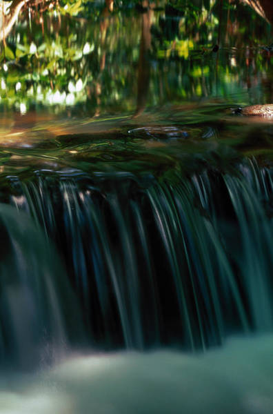 Thailand Photograph - Small Waterfall In Stream, Phang-nga by Art Wolfe