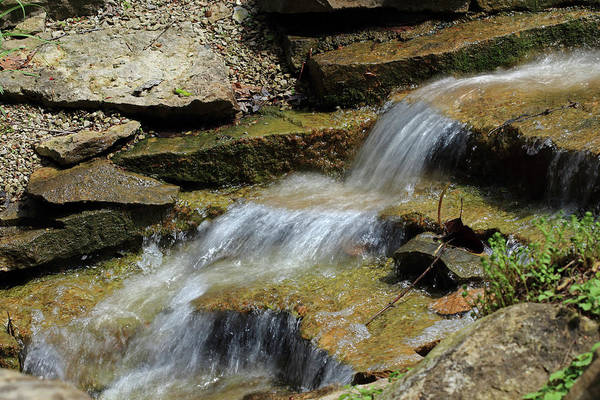 Photograph - Small Waterfalls by Angela Murdock