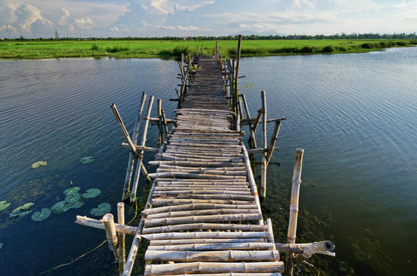 Hoi An Photograph - Small Wooden Bridge To Rice Paddy, Hoi by Rwp Uk