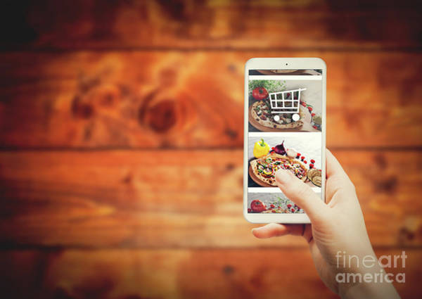 Photograph - Smartphone With Food Ordering Application by Michal Bednarek