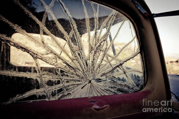 Photograph - Smashed Window Jerome Arizona Ghost Town by Edward Fielding