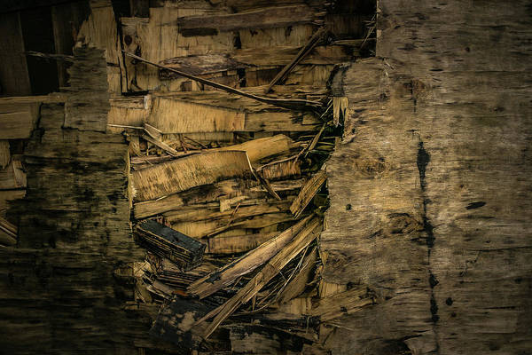 Photograph - Smashed Wooden Wall by Juan Contreras