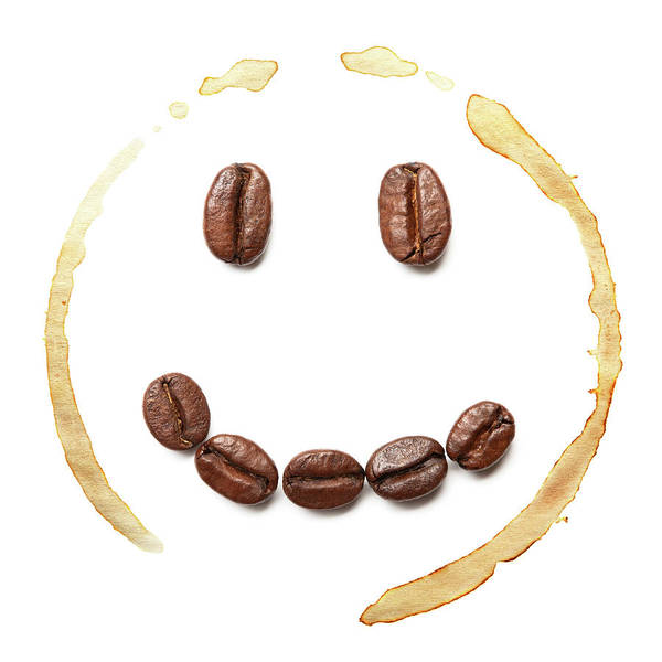 Coffee Photograph - Smile Coffee Beans by T kimura