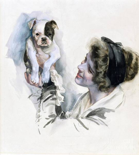 Service Dog Painting - Smile Even If It Hurts by Peter Ogden Gallery
