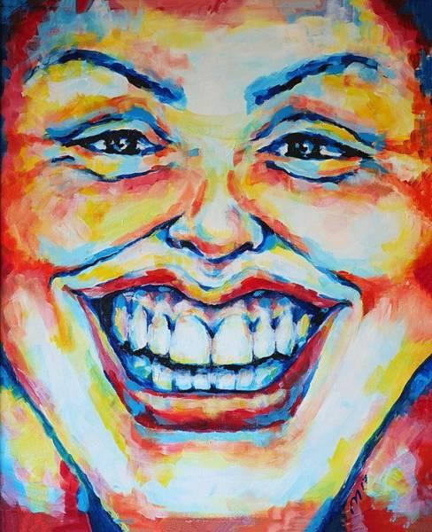 Acrilic Painting - Smile by Maria Gencheva - MariKo