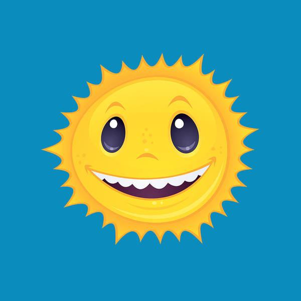 Smiley Face Wall Art - Digital Art - Smiley Sun by John Schwegel