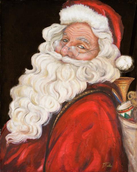Wall Art - Painting - Smiling Santa by Patricia Pinto