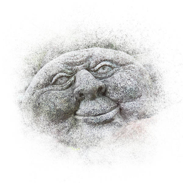 Photograph - Smiling Stone Face by Patti Deters