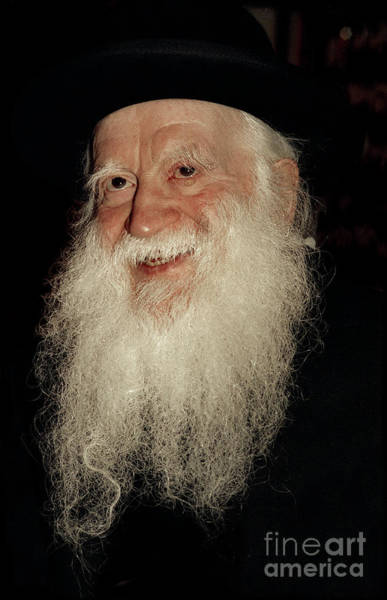 Photograph - Smiling Study Of Rabbi Yehuda Zev Segal - Doc Braham - All Rights Reserved by Doc Braham