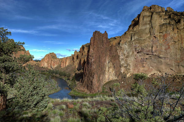 Crooked River Photograph - Smith Rock And Crooked River by Photo By Gordon Ashby