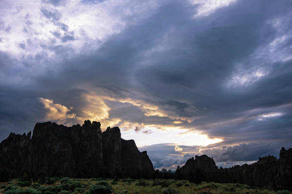 Photograph - Smith Rock Lightshow by Steven Clark