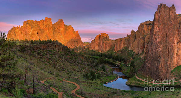 Smith Rock State Park, Oregon, Usa Art Print