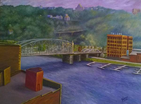 Wall Art - Painting - Smithfield Street Bridge At Station Square, Pittsburgh by Joann Renner