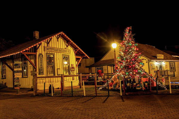 Photograph - Smithville Railroad Christmas Tree by Kristia Adams