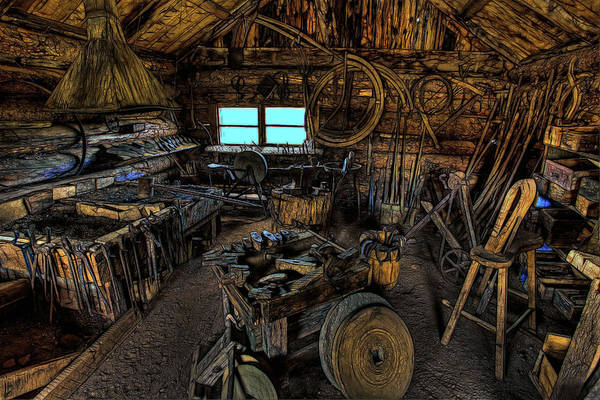 Wall Art - Photograph - Smithy's Shop by Mike Flynn