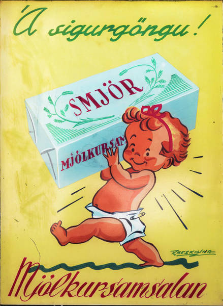 Photograph - Smjor Butter Vintage Advertising Poster by RicardMN Photography