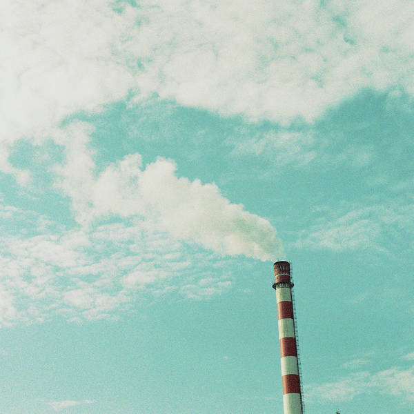 Pollution Photograph - Smoke Sail Up Into Clouds by Junya Hu
