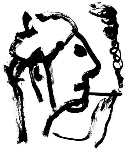 Wall Art - Drawing - Smoking by Artist Dot
