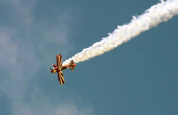 Photograph - Smoking Bi-plane by Anthony Jones
