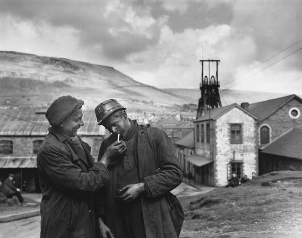 Miners Photograph - Smoking Miners by Topical Press Agency