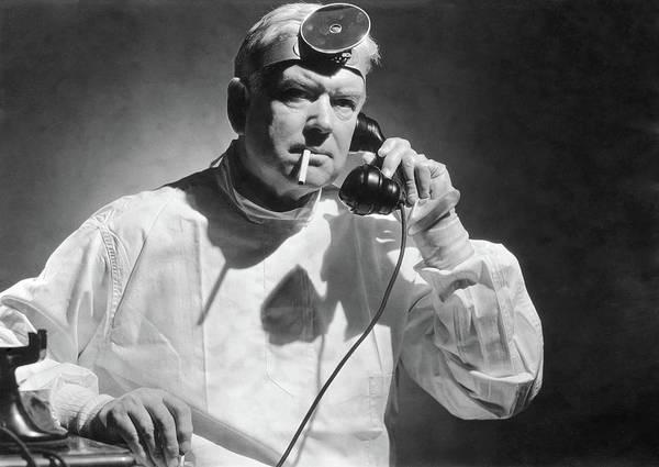 Headband Photograph - Smoking Surgeon by Fpg