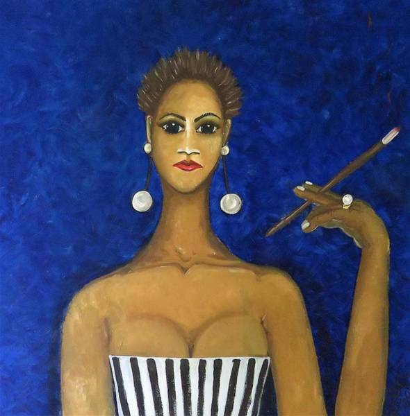 Painting - Smoking Woman by Joan Stratton