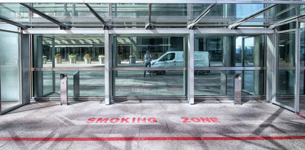 Wall Art - Photograph - Smoking Zone by Martin Newman