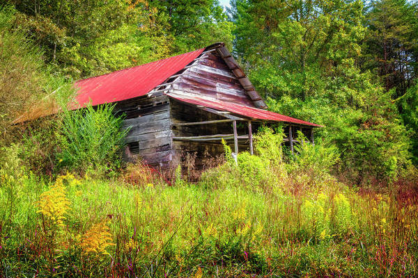 Photograph - Smoky Mountain Barn On An Autumn Afternoon by Debra and Dave Vanderlaan