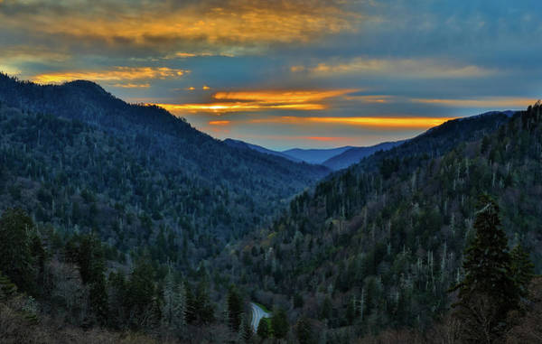 Photograph - Smoky Mountain Sunset From Morton Overlook by Dan Sproul